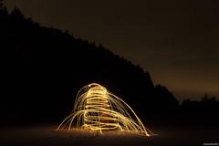Xmas Tree... Light Painting Style (LilFr38) Tags: lilfr38 canoneos5dmarkii canonef1740mmf4lusm chamrousse isère france lightpainting night longexposure friends steelwool nuit expositionlongue amis lightdepechemode