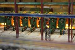 Stahlwerk H0  (06) (Rinus H0) Tags: modelspoor modeltreinen modelrailway modeltrains modelleisenbahn eurospoor 2016 utrecht nederland thenetherlands holland stahlwerk gerdotto steelmill scale schaal gauge h0 187 iron rust pipes cokes scrap furnace steel steelindustry