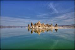 Mono Lake Symmetry (❡ ♻ ₭) Tags: monolake landscape landscapes symmetry sky hdr hdri bracketedhdr waterscape water horizontal nikond7000 tokina tokina116atx tokina1116mm manual manualexposure handheld color gauravkavathekar photomatix tonemapping california usa