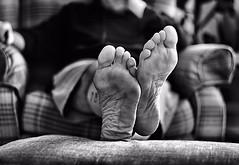 "An afternoon off ! (CJS*64 ""Man with a camera"") Tags: lazy athome feet dayoff home nikon nikkorlens nikkor nikond7000 dslr d7000 blackwhite bw blackandwhite whiteblack whiteandblack mono monochrome relax relaxed cjs64 craigsunter cjs dof depthoffield"