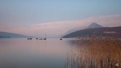 Calme plat (flo73400) Tags: lac lacdannecy bateau boat paysage landscape lake france longexposure poselongue le
