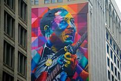 Muddy Waters mural, Chicago Loop (Cragin Spring) Tags: muddywaters mural building musician blues colors loop chicagoloop downtown city chicago chicagoil chicagoillinois chitown windycity illinois il urban unitedstates usa unitedstatesofamerica