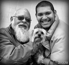Dec 4 2016 - John, Pepper and Alberto at Cody city park (lazy_photog) Tags: lazy photog elliott photography myself pepper alberto cody wyoming black white cuca ruth 120416cucascamerawithalberto
