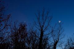 La Lune et Vnus... viteuf du boulot (Denis Vandewalle) Tags: lune moon sky night nightscene nightsky ciel astronomy astro