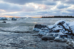 Finland 99 years (ToffeHgglund) Tags: finland prkens waterfront clouds water winter ice cold rocks waves outdoor canon5dmkiii canon