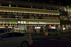 Station (Dominic Sagar) Tags: fujifilm japan street t050 t100 t200 x100s neon night sign station shinjukuku tōkyōto jp