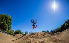 You only have one life to live (SSelJEFE) Tags: california sky sun bike bicycle canon photography jump bmx crash nuts fisheye tricks dirt 15mm 6d fail backflip calabazas