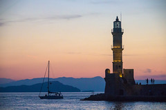 Chania at dusk (crocus9) Tags: summer holiday wall peace harbour walk greece elements crete late chania