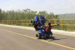 Stunting (NunezPhotography420) Tags: bridge blue me cross yamaha atv stunt nohands sabanaiglesia
