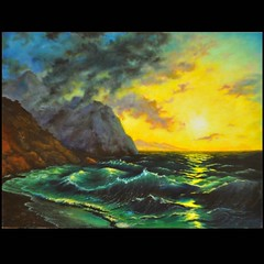 My new painting is finished. I love the sunsets over sea. I was inspired by a painting Aivazovsky Oil 60 * 45 cm. Next my picture already started))    .    .   .  60*45 . (Businka-UA) Tags: seascape art water painting square landscape artist creation squareformat soul myart oilpainting   oilpaints   seasunset myarts    inheart likesea weves likeocean marinist iphoneography instagramapp uploaded:by=instagram  scepes marinepeinter