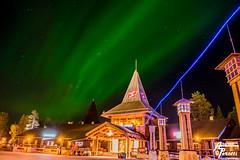 Aurora Borealis Santa Claus Village Rovaniemi (Andrea  Perotti) Tags: finland rovaniemi lapland portfolio mybest auroraborealis finlandia articcircle circolopolareartico auroraboreale santaclausvillage