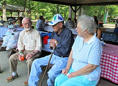 My cousin, Ralph, Uncle J.V., & Aunt Patsy. (debstromquist) Tags: family cousins kentucky ky parks williamsburg aunts uncles latesummer cityparks familyreunions briarcreekpark