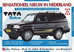 Tata Telcosport leaflet 1993 (sjoerd.wijsman) Tags: auto cars car tata voiture 1993 vehicle leaflet brochure fahrzeug telco folleto prospekt carbrochure opuscolo brochura broschyr autobrochure tatatelcosport telcosport tatatelco