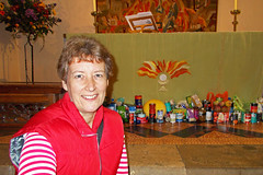 277 2015 Harvest donations at Holy Trinity (Margaret Stranks) Tags: uk food church harvest altar oxford apples tins holytrinity headington 2015 headingtonquarry 365days 277365
