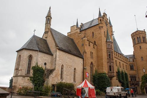 Cour centrale du château de Hohenzollern