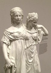 Crown Princess Louise of Prussia and her Sister, Frederica of Mecklenburg-Strelitz (mademoisellelapiquante) Tags: art arthistory sculpture statue sisters foggmuseum 19thcentury fineart prinzessinnengruppe