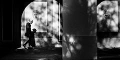 Evading my demons (Frank Busch) Tags: city people blackandwhite bw woman monochrome germany walking munich lights blackwhite shadows streetphotography arches demons hofgarten wwwfrankbuschname photobyfrankbusch imagebyfrankbusch wwwfrankbuschphoto