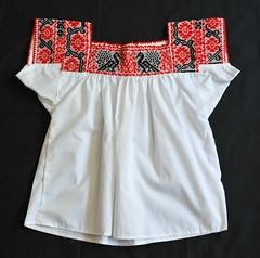 Mexican Blouse Nahua Puebla (Teyacapan) Tags: mexico clothing mexican textiles puebla embroidered bordados blouses blusa mexicanas nahua zoatecpan