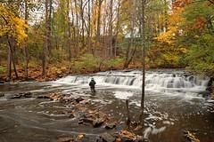 Fishing At Postcard Falls (+David+) Tags: waterfall fisherman fallcolors corbettsglenn brightonny postcardfalls