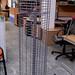Metal revolving display unit