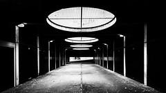 Brutal (Sean Batten) Tags: street city light urban blackandwhite bw nikon garage streetphotography carpark shaft d800 fannstreet goldenlaneestate 1424