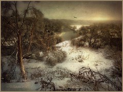 Winter evening on the river Protva (odinvadim) Tags: textured textures iphone editmaster travel iphoneography sunset evening iphoneonly painterly artist snapseed landscape iphoneart graphic painterlymobileart winter forest