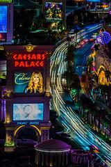 Las Vegas   |   Caesars Palace Light Trails (JB_1984) Tags: caesarspalace curve lighttrails movement motion blur lights night evening neon casino lasvegasboulevard lasvegasstrip thestrip traffic colour sign celinedion city paradise lasvegas lv nevada nv unitedstates usa