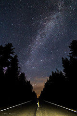 A road to Milky Way (mn_fotomusic) Tags: landscape nightscape milkyway sky night road trees roadtrip stars blue linnunrata y thdet thtitaivas tie maisema suomi finland canon 6d lightroom