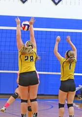 IMG_9946 (SJH Foto) Tags: girls volleyball high school lampeterstrasburg lampeter strasburg solanco team tween teen east teenager varsity net battle spike block action shot jump midair