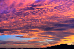 Ripples in the Sky (Carl Cohen_Pics) Tags: sierraestrellamountains summer clouds mountain sunset colors komatke nature twilight canon landscape red blue yellow