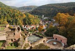 View from Hardenburg, Bad Dürkheim, Germany