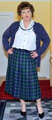 Birgit023088 (Birgit Bach) Tags: pleatedskirt faltenrock blouse bluse cardigan strickjacke