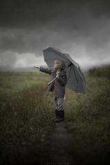 Rain (sveta_butko) Tags: boy child childhood ambrella rain autumn clouds drops