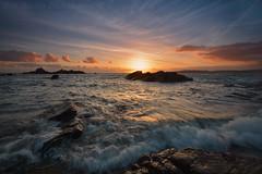 Heybrook Sunset. (pedro2324) Tags: seascape seashore beach sunset waves rocks heybrook bay vista devon scenic