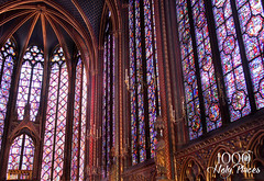 Sainte Chapelle Stained Glass (Laura K Bellamy) Tags: cathedral sainte chapelle paris churches europe architecture stained glass cathedrals travel gothic