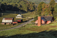 Boone Barns (Patrick Gregerson) Tags: 2016 agriculture autumn blueridgemountains blueridgeparkway bucolic countryside fall farm farmer farmhouse farming farmland grass landscape morning nc northcarolina october outdoors outsideboone rural cemetery church oldhwy421