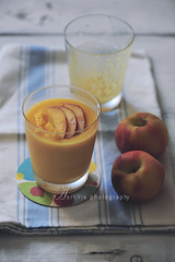 mango & peach smootie (asri.) Tags: 2016 onwhite homemade foodstyling foodphotography 105mmf28