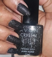 Aquele esmalte pra abalar as estruturas 😂😂😂😂 @avonbrasil - Preto crystal #esmalte #esmaltadas #avoncristal #avonnailpolish #unhadasemana #unha #unhas #unhabonita #unhasbr #nails #nailsbr  #nailpolish #clubedoesmalte #instanails #12ml #vici (Queen the Vampire) Tags: instagramapp square squareformat iphoneography uploaded:by=instagram esmalte clubedoesmalte viciadaemesmalte unhasbr unhabonita unhas glitter nailpolish beautifulnails