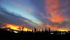 DSC09921 (2) Sunrise (Allen Woosley) Tags: ft seward haines ak yukon territory glaciers sunrise fall leaves fire station