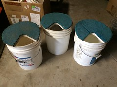 My Dad's custom ice fishing pails (Daniel M. Hendricks) Tags: icefishing buckets
