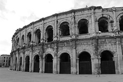 Nimes Arena (big_jeff_leo) Tags: nimes france roman temple arena building stone ancient architecture city facade fountain french empire old pilar column