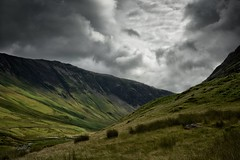 Valley [Explored] (Future-Echoes) Tags: explored explore 4star 2016 cloudy cumbria grass honisterpass mountains thelakedistrict valley