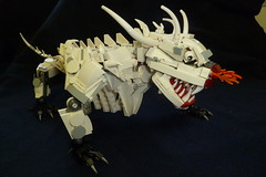 Dragon (ba5t4rdof1962) Tags: moc lego dragon white skeletal angry fangs fantasy undead no2