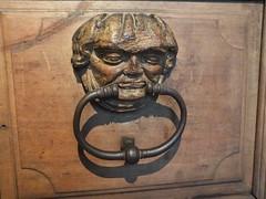 Grumpy Door Knocker (John of Witney) Tags: museum door knocker sculpture grumpy maisontavel geneva switzerland