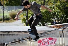 Sliding (bobglennan) Tags: philadelphia painespark nikond750 skateboarding slide advertise vans rail balance