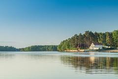 fishing,fishing landscape on the shore (mikhafff1984) Tags: fishing fishingtime angler landscape sunset lake river rocks gulf finland fishingtackle bobber