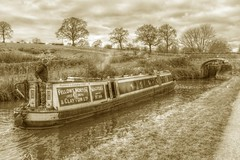 No166 (Tony Tooth) Tags: nikon d7100 tamron 2470mm narrowboat boat canal bridge lock monochrome bw blackandwhite sepia hazlehurst caldoncanal staffs staffordshire england hdr