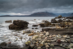 Elgol Rocks (Christopher Combe Photography) Tags: skye elgol scotland nikon d750 nature waves clouds mountains