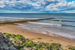 Hendon Beach (robinta) Tags: landscape seascape sea ocean water groyne clouds sky colour beach sand rocks pentax sigma18200mmhsmc ks1 sunderland architecture ngc