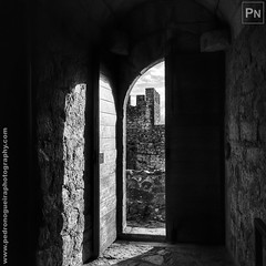 Castle of Leiria 8/8 (Pedro Nogueira Photography) Tags: castle leiria portugal iphoneography blackandwhite monochrome pedronogueira pedronogueiraphotography iphone5 outdoor 12thcentury romanic gothic medieval architecture column